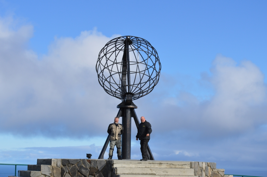 The classic North Cape pic, as my buddy Jon and I saw it. Photo: HP