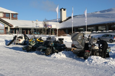 The rally at that time was held at Oset høyfjellshotell. Posh winter luxury.