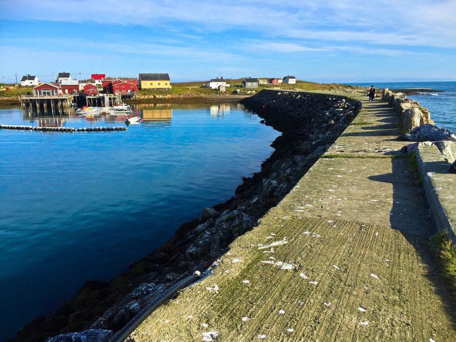 A sea breaker and harbor at Ekkerøy, Finnmark county, Northern Norway. Photo: ridenorway.com