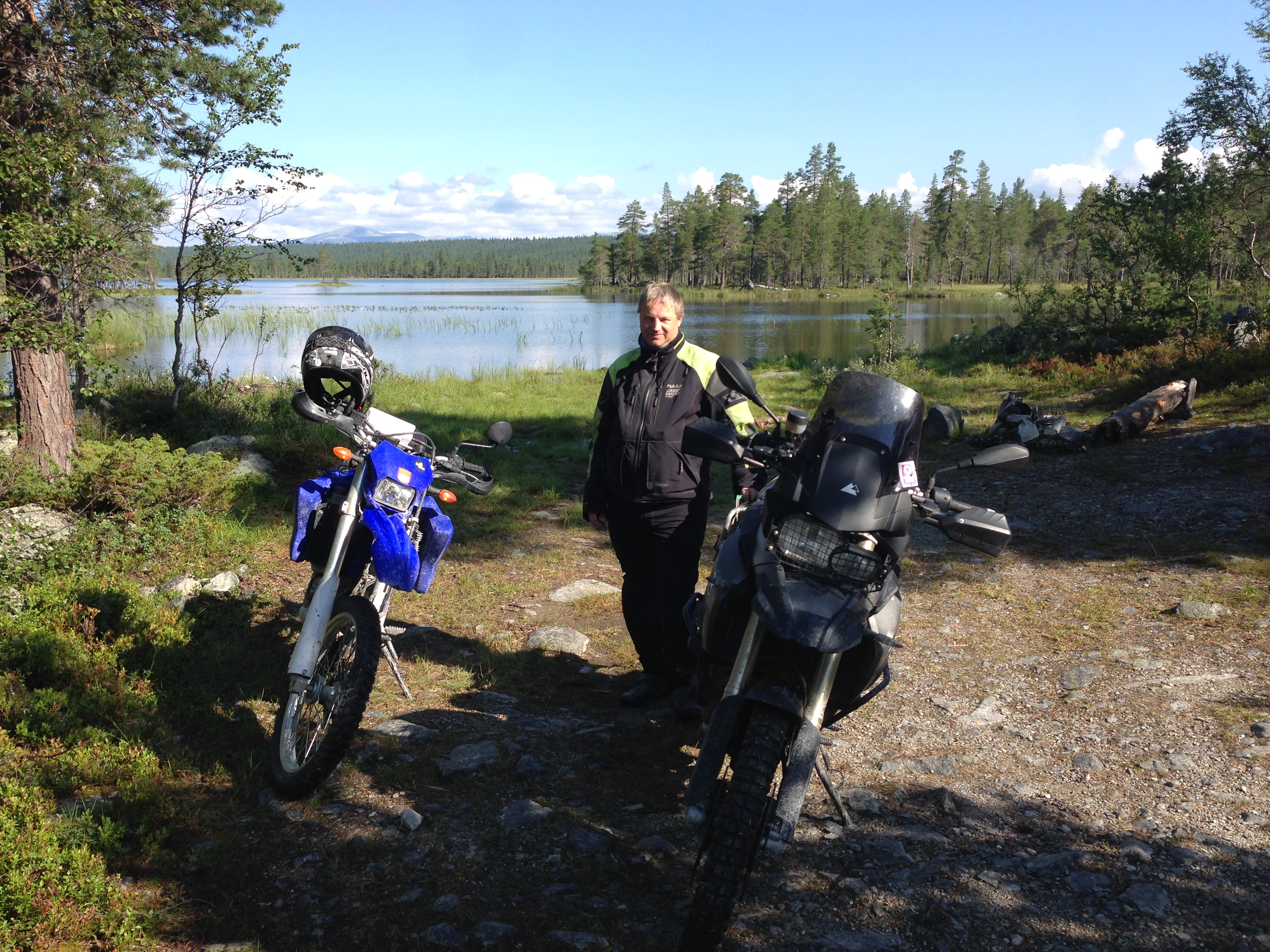 Choosing a smaller capacity, light bike makes it easier to venture to the secluded, nice places in the forest.