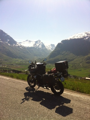 It's good to ride a bike in Norway. This is from near Byrkjelo in the west.