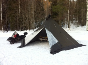 Lavvos are really the best option for serious winter camping.
