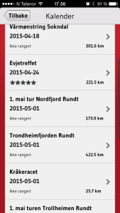 You will find most of the rallies in Norway in the NMCU app.