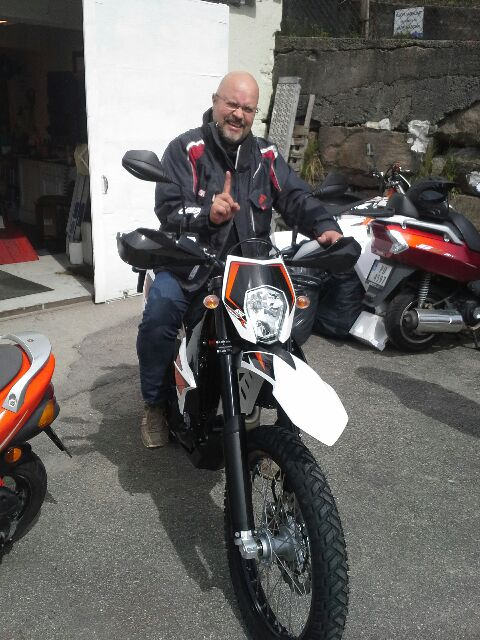 Papa's got a brand new bag: A KTM 690 Enduro R.