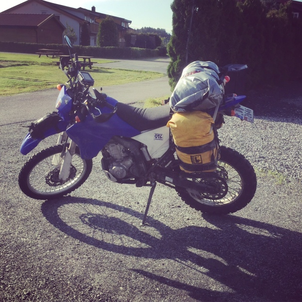 My weapon of choice for this trip: A Yamaha WR250R. More than capable of a trip like this.