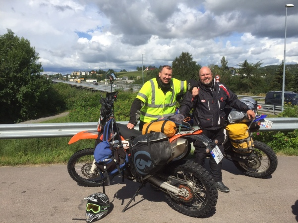 Arne (left) and myself prior to departure