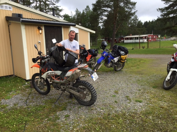 Arne packs his new-to-him KTM 690 Enduro.